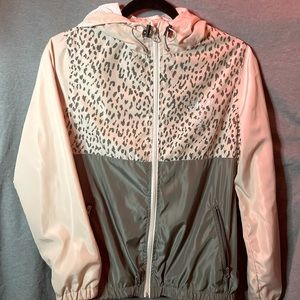 Leopard/Cheetah Stussy Jacket/Windbreaker Small